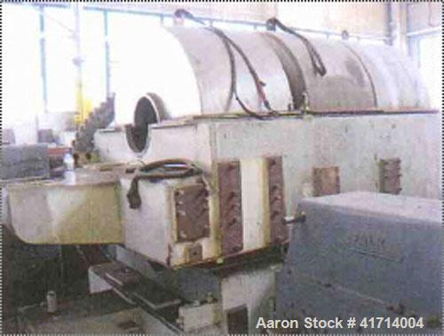 Used-Sharples PM-95000 Super-D-Canter Centrifuge. 316 stainless steel construction (product contact areas). Max bowl speed 2...