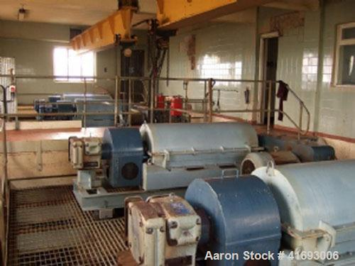 Used-Sharples PM3500 MK1.5SD Super Decanter Centrifuge, stainless steel. With 40 hp/30 kW, max bowl speed 3150 rpm, scroll s...