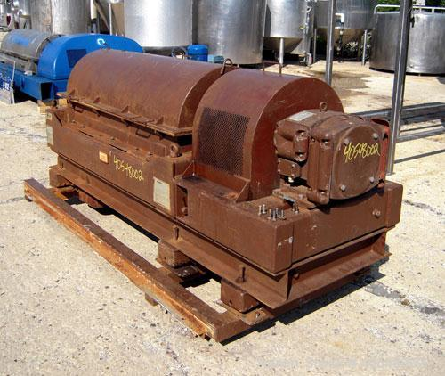 Used- Sharples PM-35000 Super-D-Canter Centrifuge, 316 stainless steel construction  (product contact areas ),  maximum bowl...