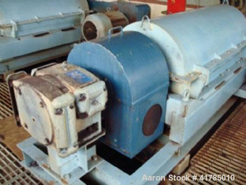 Used-Sharples PM3500 MK1.5SD Super Decanter Centrifuge, stainless steel, with 40 hp/30 kW, max bowl speed 3150 rpm, scroll s...