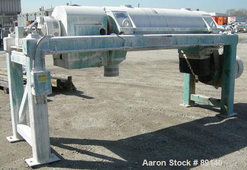 USED: Sharples PM-38000 Super-D-Canter centrifuge, 316 stainless steel construction on product contact areas. Max bowl speed...