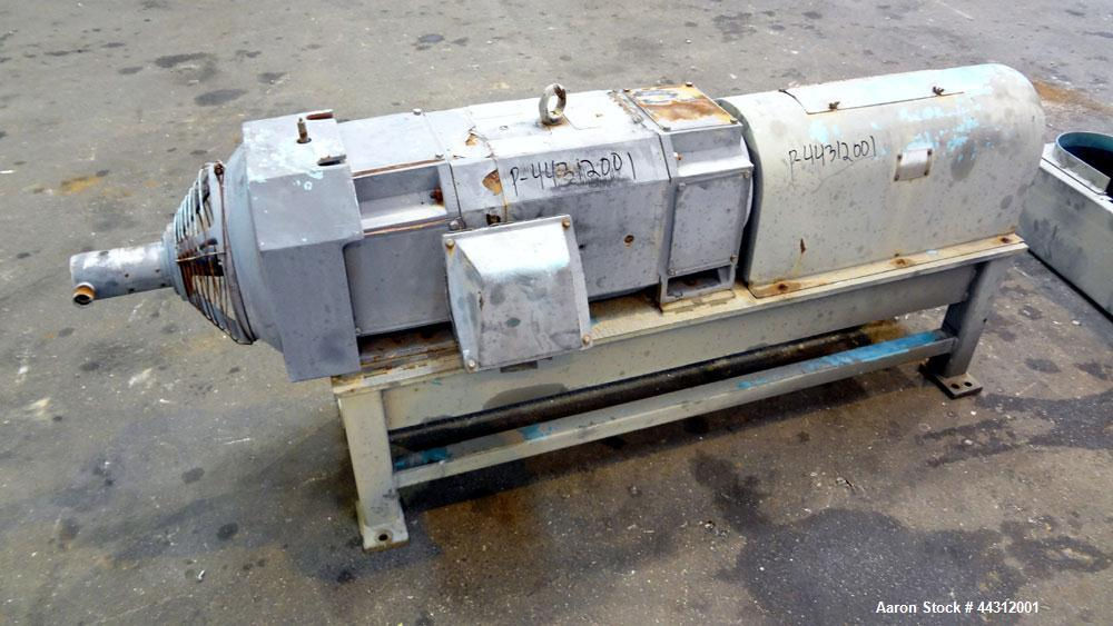 """Used- Sharples PM-55000 Super-D-Canter Centrifuge. 317 Stainless steel construction (product contact areas), 8"""" single lead ..."""