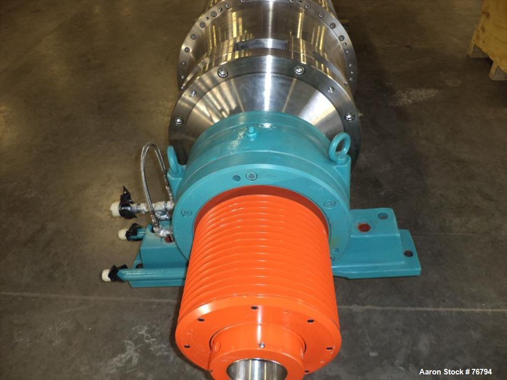 Used- Stainless Steel Sharples Super-D-Canter Centrifuge Rotating Assembly