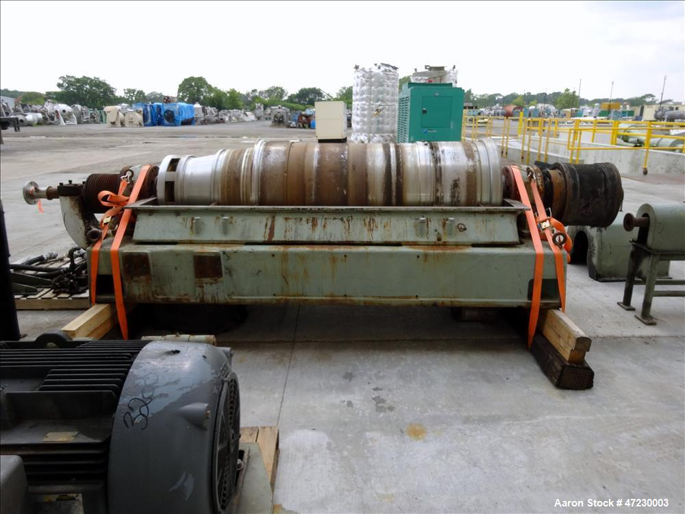 Used- Sharples SG-15 Super-D-Canter Centrifuge. 316/317 Stainless steel Construction (product contact area), maximum bowl sp...