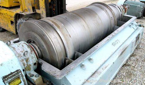 USED: Sharples XM-505 Super-D-Canter Centrifuge. 317/316 stainless steel construction on product contact areas. Max bowl spe...