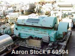 """USED: Sharples P3400 Super-D-Canter in carbon steel constructionincluding the rotating assm and casing, with 4-1/4"""" pitch co..."""