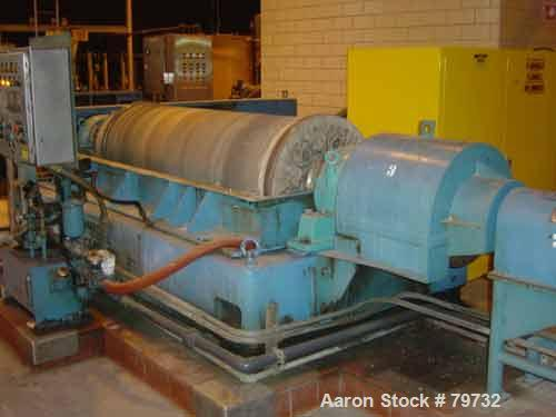 "USED: Sharples P-5400 Super-D-Canter centrifuge, 316 stainless steelconstruction on product contact areas, 8.5"" single lead ..."