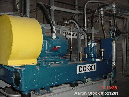 USED: Siebtechnik TS-360 solid bowl decanter centrifuge, stainlesssteel construction on product contact areas. Approx 40 hp ...