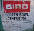 Used- Stainless Steel Bird Screen Bowl Centrifuge