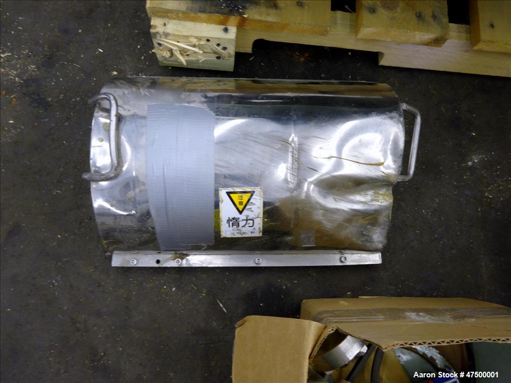 Used- Tomoe / Sharples P-660 Super-D-Canter Centrifuge. 316 stainless steel cons