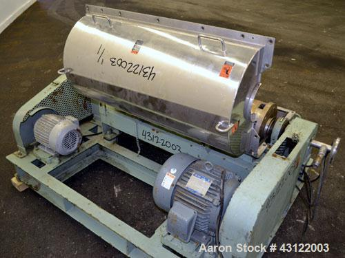 Used- Tomoe TSM-010 Super-D-Canter Centrifuge. 316 Stainless steel construction (product contact areas), maximum bowl speed ...