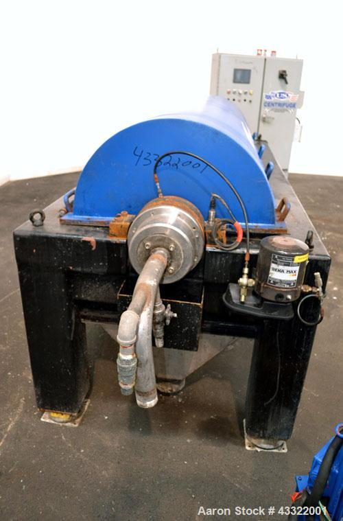 Used- US Centrifuge CQ5 Solid Bowl Decanter Centrifuge, Model CQ5000. 2205 Stainless steel construction (product contact are...