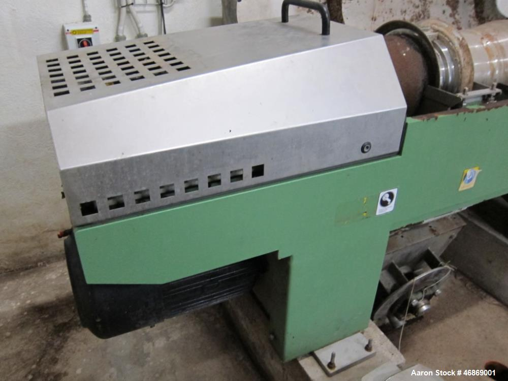 Used- Westfalia AD-0509 Solid Bowl Decanter Centrifuge, 316 stainless steel construction (product contact areas). Bowl diame...