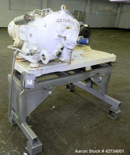 Used- Westfalia CA-220 Solid Bowl Decanter Centrifuge. 316 Stainless steel construction (product contact areas), maximum bow...