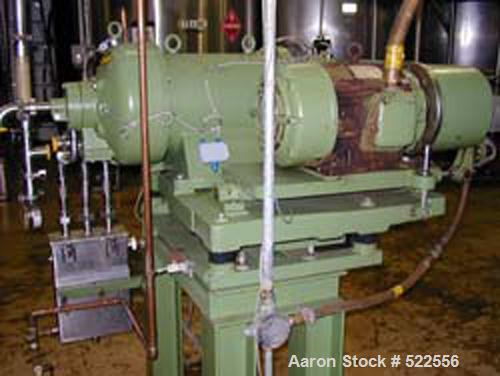 USED: Westfalia CA-220-21-00 decanter centrifuge, 316 stainless steel construction on product contact areas, feed pipe, casi...