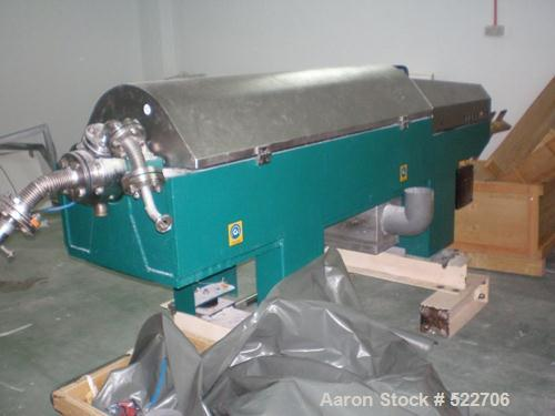 USED: Westfalia CD-305-01-02 solid bowl decanter centrifuge. Stainlesssteel construction on product contact areas, max bowl ...