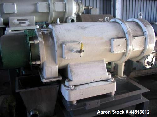 Used- Westfalia Solid Bowl Decanter Centrifuge, Model SDB-360L. 30 Kw drive, bowl speed 4000 Rpm.