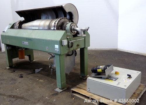 Used- Stainless Steel GEA-Westfalia Solid Bowl Decanter Centrifuge, TD 3050