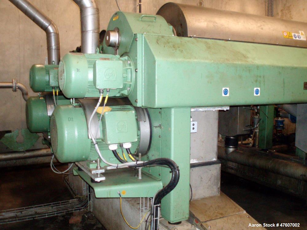 "Used- Westfalia CA-458-00-02 Solid Bowl Decanter Centrifuge. 18"" x 57"", horizontal scroll type centrifuge constructed of cen..."