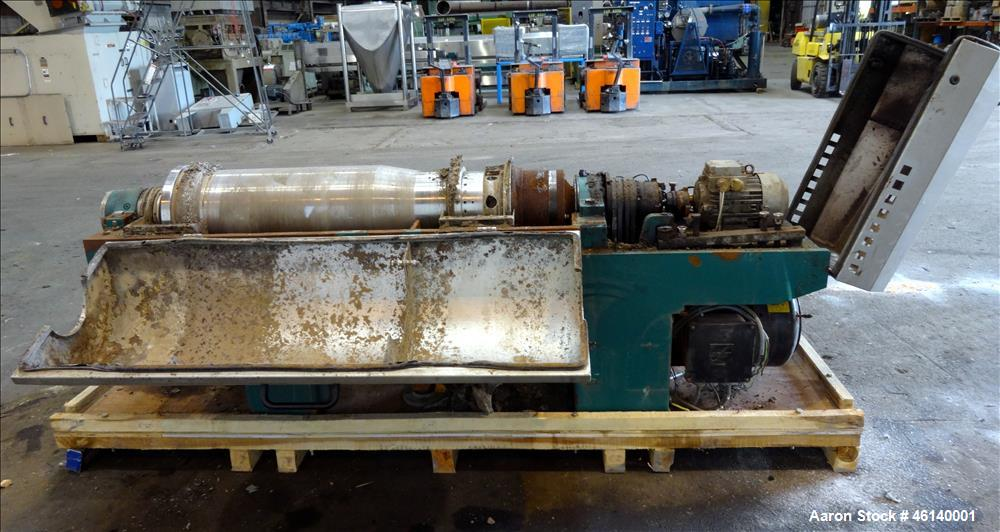 Used- Westfalia UCD 305-00-02 Solid Bowl Decanter Centrifuge. 304 Stainless steel on product contact parts, maximum bowl spe...