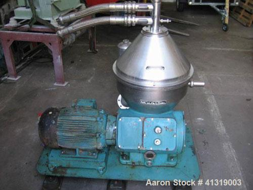 Used- Alfa-Laval Automatic Disc Centrifuge, CHPX-407-SGP-35-CEFGR