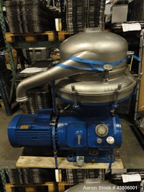 Used-Alfa Laval AFPX-213-16S Desludger Disc Centrifuge.  Stainless steel construction (product contact areas), separator des...