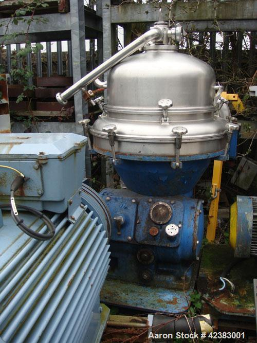 Used-Alfa Laval AFPX-213-XGD-70 Desludger Disc Centrifuge. 316 Stainless steel, concentrator design, centripetal pump liquid...