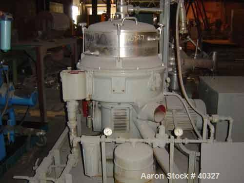 USED: Alfa-Laval AFPX-309B-74-60 desludger centrifuge, 316 SS,separator design, top feed, 15 hp 220/440/3/60, direct drive, ...