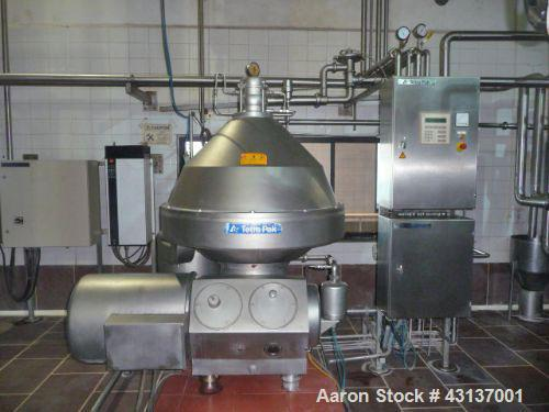 Used-Alfa Laval/Tetra Pak BMRPX818-HGV-14C Bactofag Separator, stainless steel, capacity 1236 cubic feet/hour (35,000 liters...