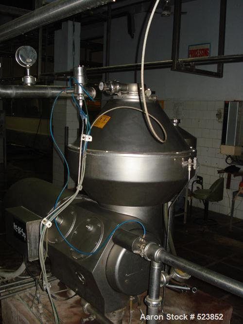 """USED: Alfa Laval BRBX-610 """"Bactofuge"""" desludger disc centrifuge.Stainless steel construction on product contact areas, clari..."""