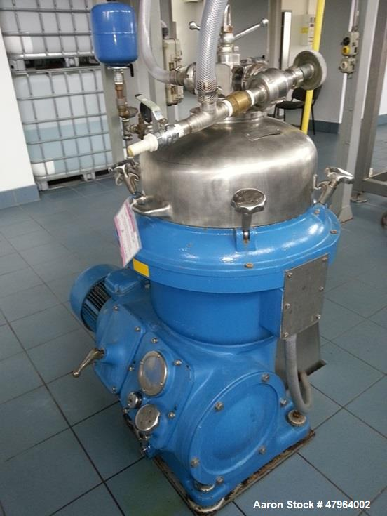 Used- Alfa Laval BRPX-207SGV Desludger Disc Centrifuge. Stainless steel construction (product contact areas), clarifier desi...