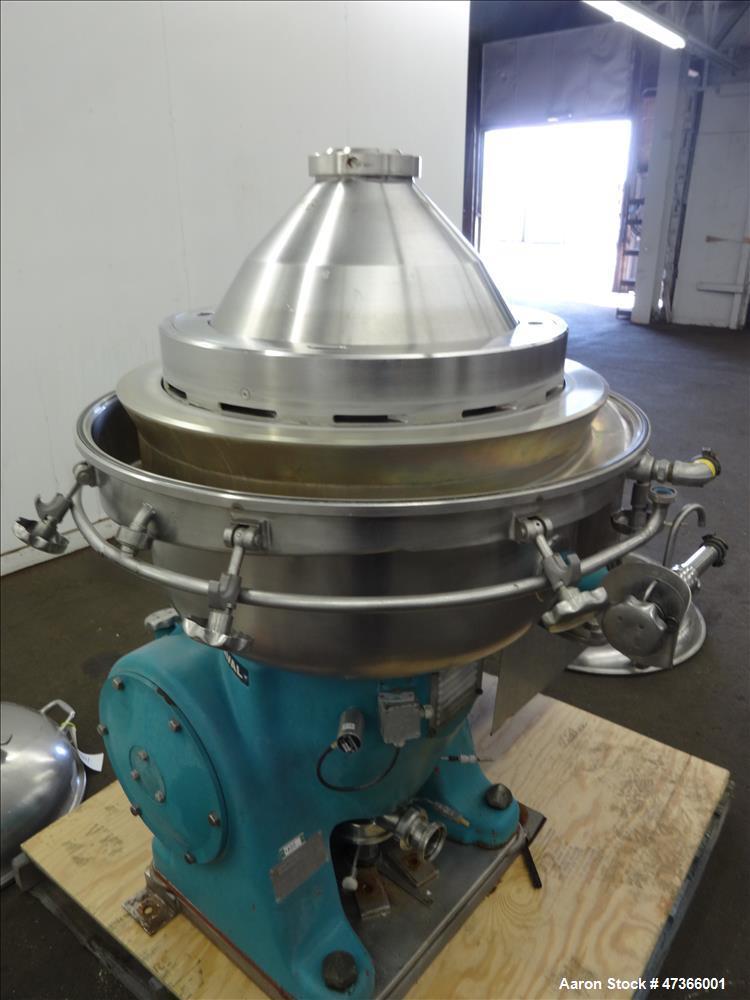 Used- Alfa Laval BRPX-213-34H-22 Desludging Disc Centrifuge.