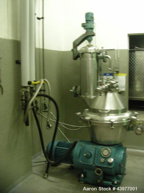 Used-Alfa Laval BRPX-309-SGV Desludger Disc Centrifuge.  Stainless steel construction (product contact areas), clarifier des...