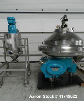 Used-Alfa Laval BRPX-317-SFV-34C Desludger Disc Centrifuge. , self-cleaning with tools and control system.