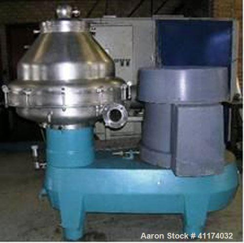 Used-Alfa Laval BRPX-417-SFV-31 Desludger Disc Centrifuge.  Stainless steel construction (product contact areas), clarifier ...