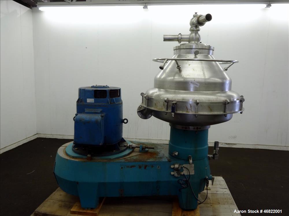Used- Alfa Laval BRPX-417 SFV-31 Desludger Disc Centrifuge.