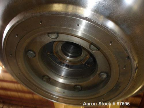 Used- Alfa Laval BRPX-417-SFV-31CCL desludger disc centrifuge, 316 stainless steel construction on product contact areas. ma...