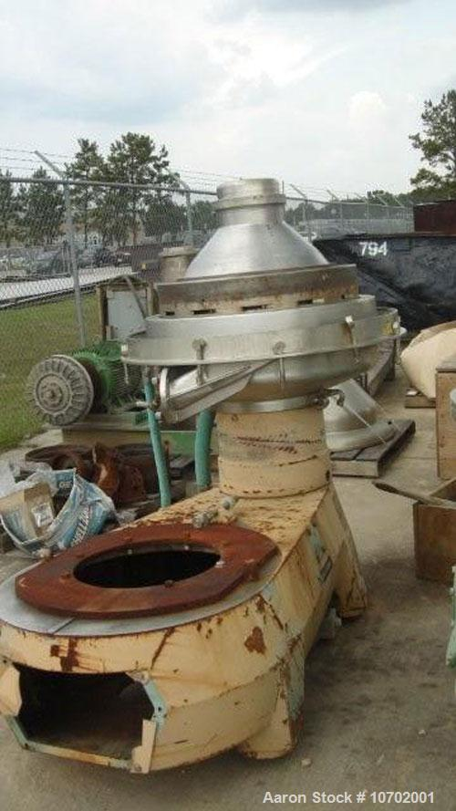 Used-Alfa Laval BRPX-417-SFV-31CGL-60 Desludger Disc Centrifuge. 316 stainless steel construction (product contact areas), m...