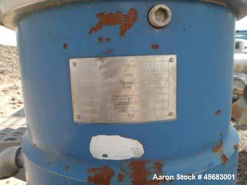 Used- Alfa Laval BRPX-417 Desludger Disc Centrifuge
