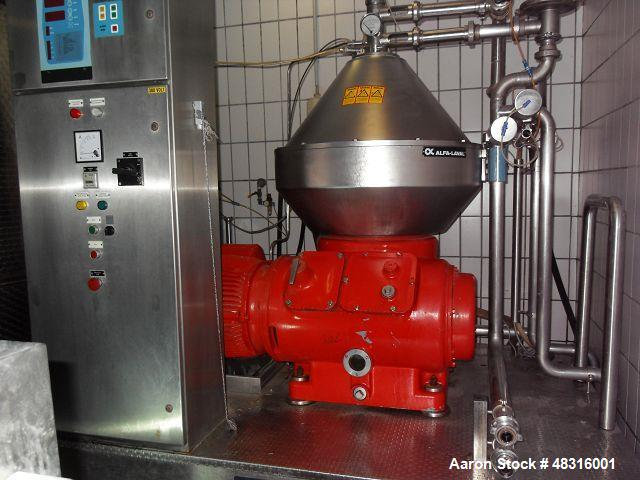 Used- Alfa-Laval BRPX-510-SGD-34 Desludger Disc Centrifuge. Stainless steel construction (product contact areas). Clarifier ...