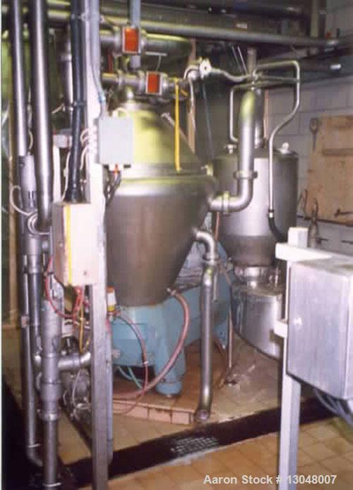 Used-Alfa Laval BRPX-617 desludger disc centrifuge