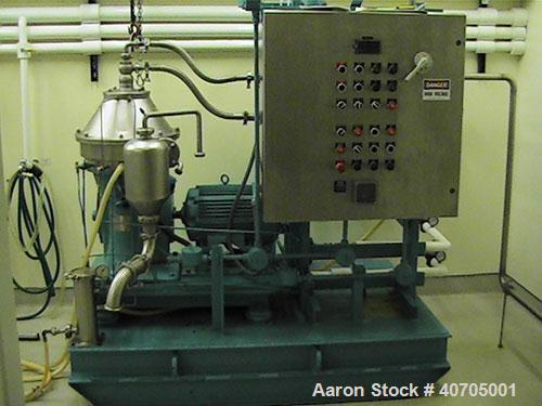 Used-Alfa Laval separator, disc automatic centrifuge, model BTPX-205-SGD35.