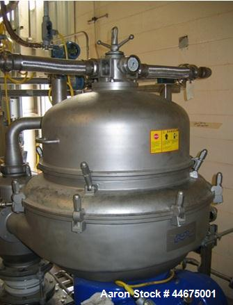 Used- Stainless Steel Alfa Laval Disc Stack Centrifuge, CHPX-513SFD/SGD-34CGT