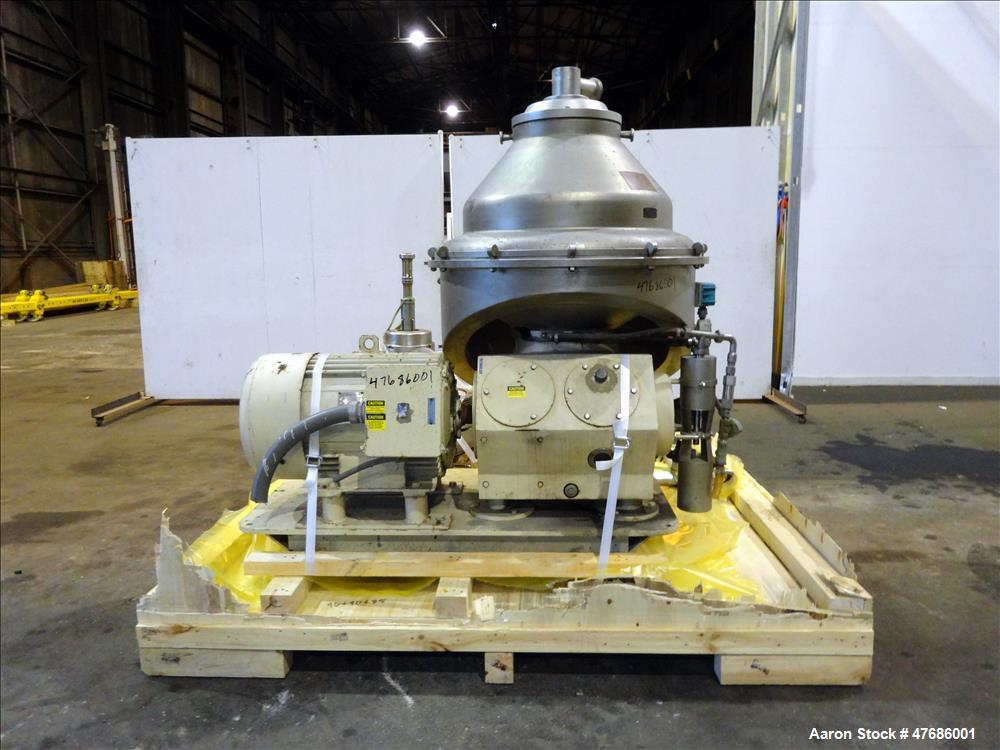 Used- Alfa Laval GTPX-517-TGV-15CEFS Desludger Disc Centrifuge.