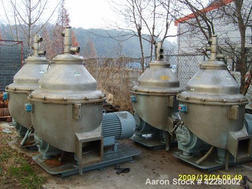Used-Alfa Laval GTPX-517-TGV-15-CEFG-60 Desludger Disc Centrifuge. Stainless steel construction (product contact areas), max...