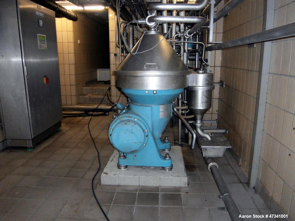 Used- Alfa Laval HVNPX-510-SGD-34 Desludger Disc Centrifuge. Stainless steel construction (product contact areas).Clarifier ...