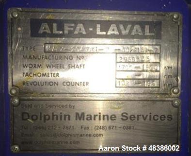 Used- Alfa Laval MAPX-204 Desludger Disc Centrifuge, Stainless steel, separator design (liquid.liquid/solids) separation, ce...