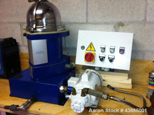 Used-Alfa Laval Separator, Model MIB 303.  7500 r/min, 1-50/60 hz, 230V.  Includes purifier, centrifuge and lift pump.