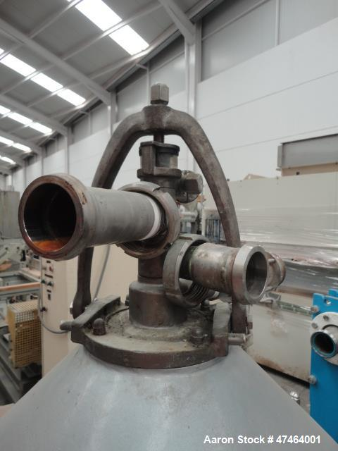 Used- Alfa Laval MOPX-309 Desludger Disc Centrifuge. Stainless steel construction (product contact areas), clarifier design,...