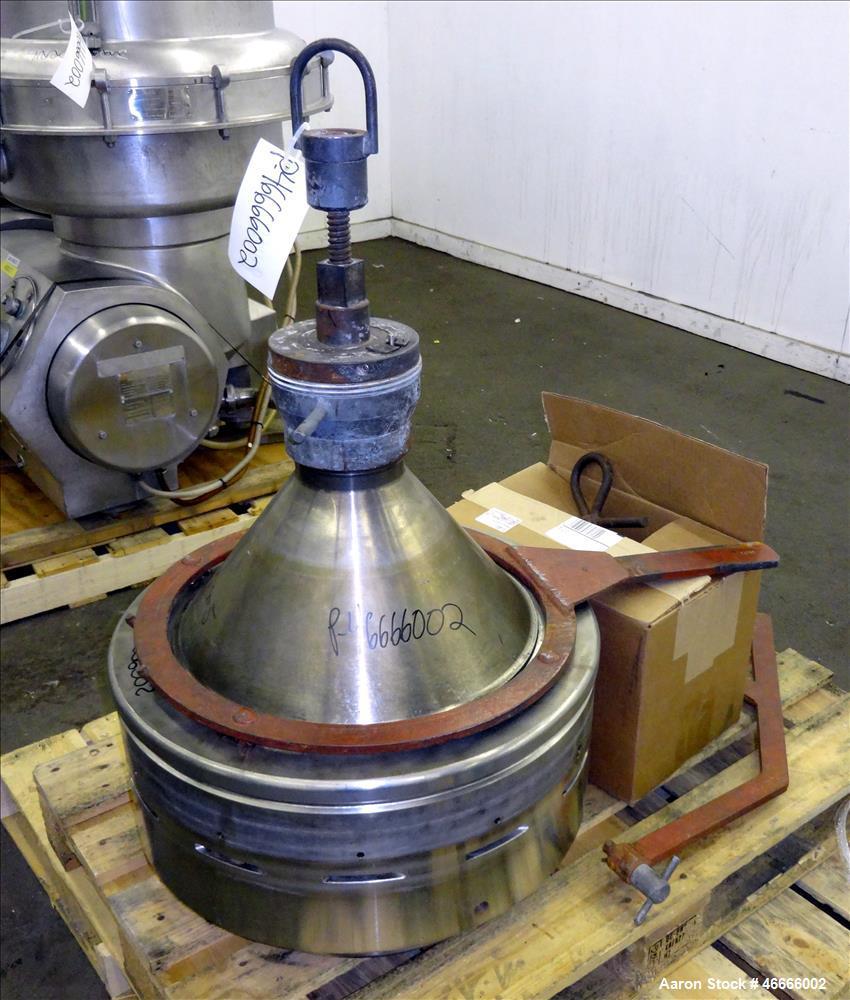 Used- Alfa Laval Milk Separator Model MRPX-314-HGV-74C.